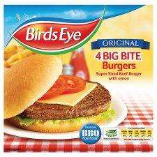 Bird's Eye Big Bite Burgers (4 Pack) Was £4.50 now 75p @ Tesco (Instore)