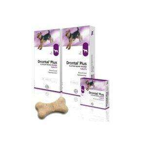 Drontal Plus flavoured de-wormer tablets for dogs in bone shape @ Amazon. £9.68 for 6 / £18.36 for 12 (cheaper if you buy more)