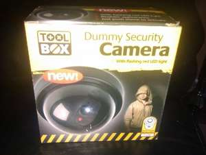 DUMMY SECURITY CAMERA WITH FLASHING LED LIGHT  ONLY £1.00 @ poundland