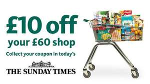 The Sunday Times (£2.50) - £10 off £60 spend @ Morrisons