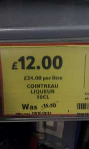 Cointreau 50 cl... reduced to £12 in Tesco