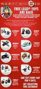 Free Lego Promo Starts 27th October with The Sun Newspaper