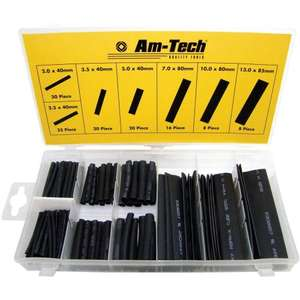 127 Piece Heat Shrink Wire Wrap Assortment - Amtech £2.05 @ One Stop Shop