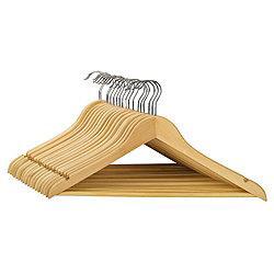 20 wooden coat hangers £2.75, was £11.96. Tesco instore
