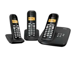 GIGASET Gigaset AS300A Digital Cordless Telephone with Answering Machine - Triple Pack £14.97 @ Currys