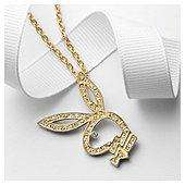 Playboy Gold Tone Crystal Encrusted Cut Out Pendant, Reduced To £7.50 Click + Collect @ Tesco