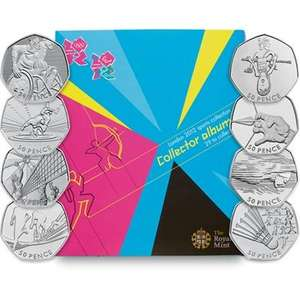 Full Olympic 50p collection set, half price royal mint. (£49.75 delivered)