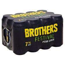 3 Packs of Brothers Festival Pear Cider 12X440ml + Other drinks for £21 @ Tesco