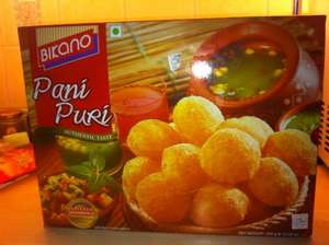 Paani  Puri  kit  (Indian snack) at Tesco's