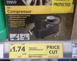 Tesco 12 V Air Compressor Just £1.74!!!  Instore Only - BARGAIN - Looks Like It Is National