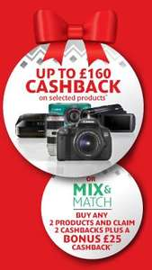 Canon Winter Cashback! from £20 up to £160 off!