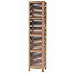 Sainsburys Medina Wooden Slatted Tall Bathroom Cabinet; Was £135, NOW £33.75 [Click & Collect]