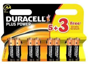 8 Duracell  Plus Power Batteries AA or AAA Only  £2.15p Delivered @ Viking Direct
