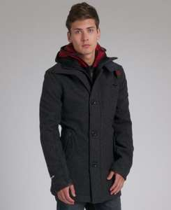 Superdry Premier Pea Trench Coat Jacket £84.99 RRP £194.99 @ eBay Superdry store