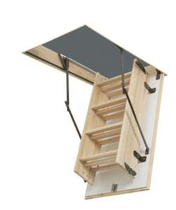 Abru complete loft access kit, wooden ladder folds onto hatch @ B&Q