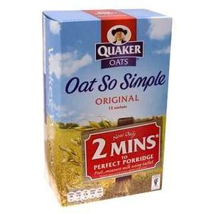 Oat So Simple £1.00 pack of 10 or 12 Iceland