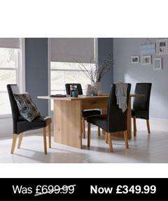 Juno Dining Table And 4 High Back Chairs @ Homebase Was £349.99 Now £174.99
