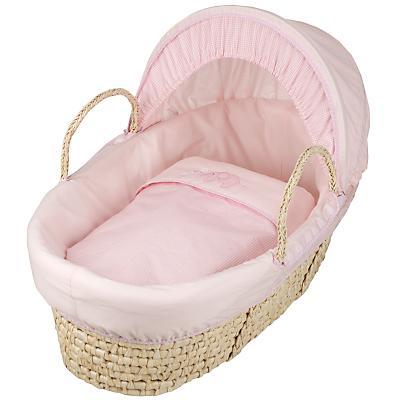 Sophie Pink moses basket half price - £30 @ John Lewis