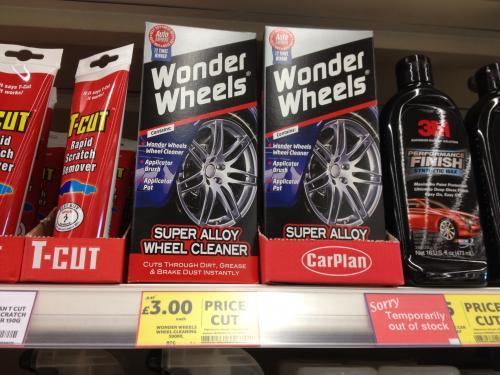 Wonder Wheels Super Alloy Wheel Cleaner (500ml). £3 @ Tesco