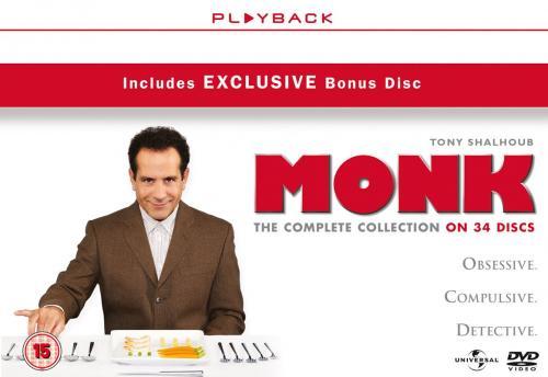 """Monk"" Season 1-8 Complete [DVD] (including Exclusive Bonus Disc) £48.25 at Amazon.co.uk"