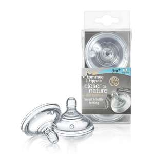 Tommee Tippee Closer to Nature Medium / Fast Flow Teats (2-pack)  £2.80 at Amazon With Free Del