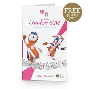 The Official London 2012 50p Sports Collection Album - 'Free' + P&P at the Royal Mint - £3