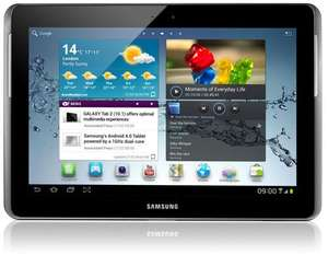 Samsung Galaxy Tab2 10.1 inch Tablet - Silver (16GB, 3G, Andriod 4.0) £299.99 (- £50 Samsung Cashback) @ Amazon