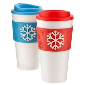 Snowflake travel mug £1 at poundland