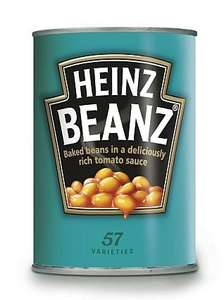 Heinz Baked Beans pack of 24 @ £8.89 = 37p a tin Costco