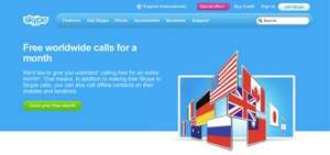 Skype – Free worldwide calls for a month