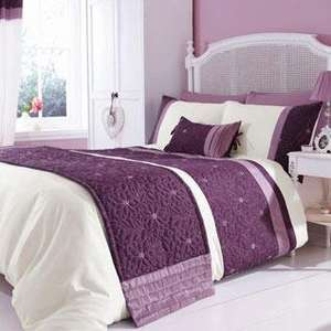 Lois Floral Duvet Cover Set - Mauve  at TJ Hughes for £19.99