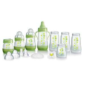 MAM 15 Piece Self-Sterilising Anti-Colic Bottle Starter Set in Green £14 del to store @ Tesco