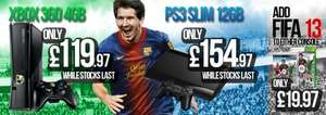 XBox 360 4GB Slim console only £119.97 ( plus add fifa 13 for only £19.97) at Gamestop