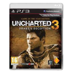Uncharted 3: Drake's Deception - Game of the Year Edition (PS3) 17.99 delivered @ Amazon