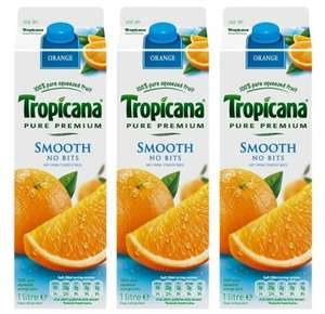 3 Litres Tropicana for 99p! / 1L for 39p (Pure Premium Smooth Orange Juice) @ 99p Stores!