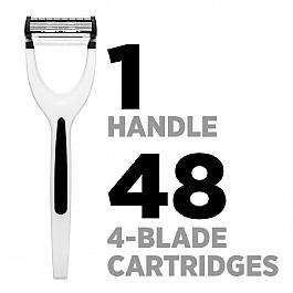 King Of Shaves Azor Razor and 48 Cartridges (4-Blades)  £36.00