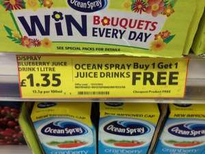 Ocean spray juice drinks buy 1 get 1 FREE Tesco