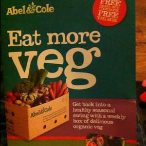 Abel and Cole free recipe book + 4th seasonal set box for free