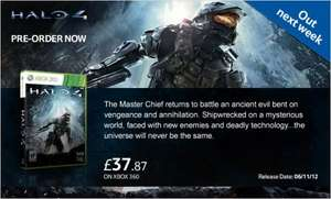 PRE ORDER HALO 4 ONLY £32.87 @ TESCO USE TD-KMPW