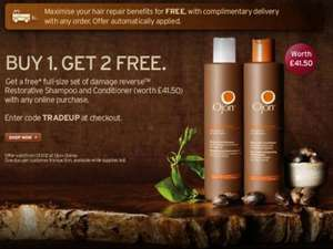 Ojon buy any product and get free delivery AND full size damage reverse shampoo and conditioner (worth £41.50) free