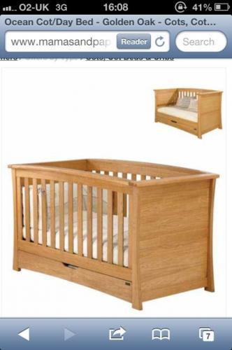 Mamas & Papas - Ocean Cot/Day Bed - £359.10
