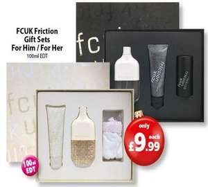 FCUK Friction 100ml Gift Set Mens & Ladies £9.99  @ savers