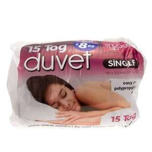 15 Tog Hollowfibre Single Size Duvet  B & M 8.99 Instore