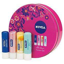 Nivea 4 lip balm set £2.50 instore @ Tesco