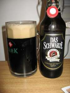 Das Schwarze Dark Beer 75p per 500ml swing top bottle 4.9% ALDI instore