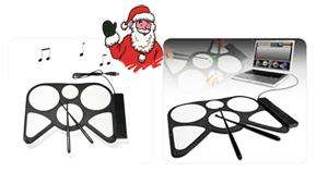 USB Roll-Up Electronic Drum Kit only £5.90 delivered @ ebay top rated seller / justgenuine2011