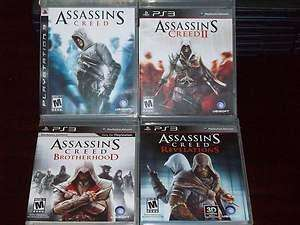 Assassins Creed 1, 2, brotherhood and revelations @GAME £20