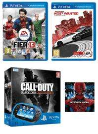 PlayStation Vita WiFi console + Call of Duty: Black Ops Declassified + FIFA 13 + Need for Speed Most Wanted + The Amazing Spider-Man (film) + 4GB Memory Card + Carry Pouch - £229.99 at GAME (Preorder)