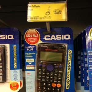 Casio fx-83gt scientific calculator £5.00 @ ASDA