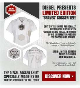 Diesel Present Limited Edition- soccer tee £205